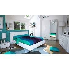 chambre laqué blanc brillant chambre adulte complète 140 190 laqué blanc uno univers chambre