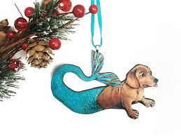 ornaments dachshund ornaments mermaid