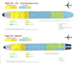 airlines past u0026 present twa seat guide map