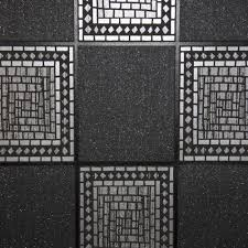 mosaic tile u2013 black silver wallsorts