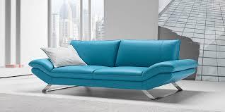 Teal Blue Leather Sofa Italian Leather Sofa By Calia Maddalena