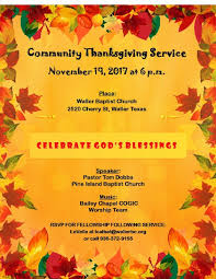 community thanksgiving service 11 19 at 6pm pine island