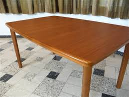 Teak Dining Room Tables Extending Teak Dining Table 1970s For Sale At Pamono