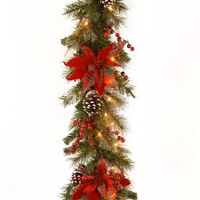 9 ft pre lit led alexander pine artificial christmas garland x