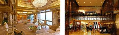 penthouse donald trump donald trump living room left trumps penthouse in trump tower image