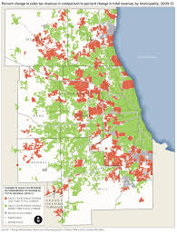 Metra Rail Map Municipal Reliance On Property Sales And Income Taxes And Their