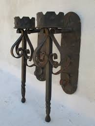 Torch Wall Sconce Torch Sconce Wrought Iron Torch Candle Holder Wall