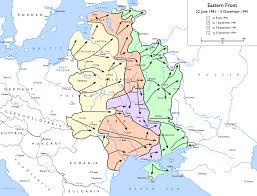 Ussr Map Eastern Front World War Ii