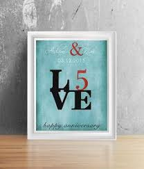 five year anniversary ideas personalised anniversary gift for 10 15 20 25th 50th wedding