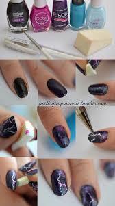 lightning nail art tutorial another heaven nails design 2016