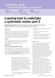 how to write review paper learning how to undertake a systematic review part 2 pdf learning how to undertake a systematic review part 2 pdf download available