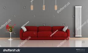 red gray modern living room sofacoffee stock illustration
