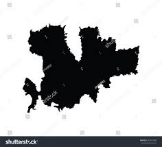 Greece Map Outline by Island Mykonos Greece Map Vector Map Stock Vector 262297496