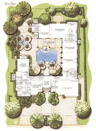 courtyard floor plans courtyard home designs florida castle home