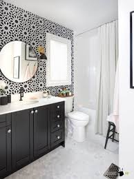 Modern Mirrors For Bathrooms Modern Bathroom Mirror With Diy Floral Wall Decor And