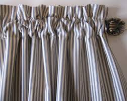 50 X 96 Curtains Set Of 2 Black And Off White Horizontal Stripe Curtain Panels
