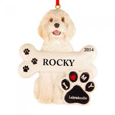 labradoodle personlized ornament and city