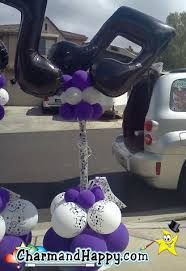 charmandhappy com offers budget balloon decorations with columns