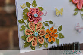quilled flower card and quilling comb 3birds studio