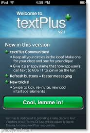 text plus unlimited minutes apk use textplus to send free text messages using an iphone ipod