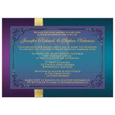 purple and gold wedding invitations wedding invitation purple teal peacock feathers flourish faux