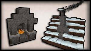 minecraft how to make working chimneys and fireplaces youtube