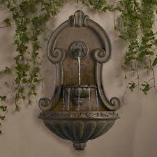 Home Decor Fountain Wall Mount Water Fountain Indoor Outdoor Vintage Decor Garden