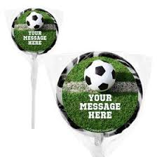 soccer party supplies soccer party personalized 2 lollipops party supplies decorations