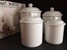kitchen canisters white 3 pcs kitchen canisters white jars brass trim air lids by