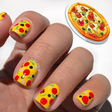 Food Nail Art Designs Who Wants Pizza Nail Art By Goldnchyld Check It Out At Http