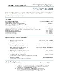 physical therapist resume resume of a physical therapist sle resume for a physical