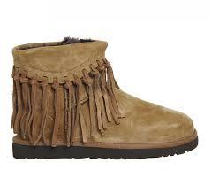 ugg wynona sale ugg wynona fringe boots in brown lyst