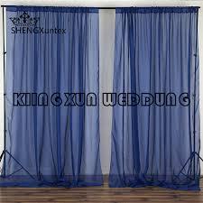 wedding backdrop curtains for sale 1pcs sale navy blue color panel chiffon wedding backdrop curtain