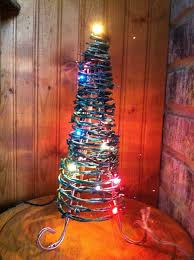 wire christmas tree with lights barbed wire christmas tree with lights by sawmillbaydotcom on etsy