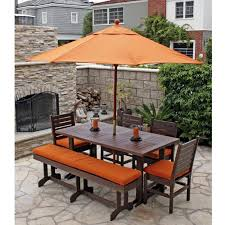 patio table and bench chair modern round outdoor dining table patio furniture room
