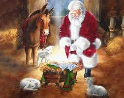 santa and baby jesus picture santa adoring baby jesus jesus the lord wallpapers and