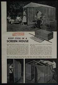 Backyard Screen House by Screen House Portable Wooden Frame How To Build Plans Ebay