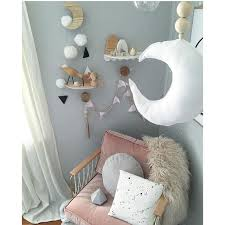 nordic baby moon toys wall hanging tent decorations wood ornaments