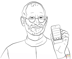steve jobs coloring page free printable coloring pages