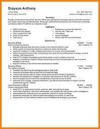 100 resume security officer