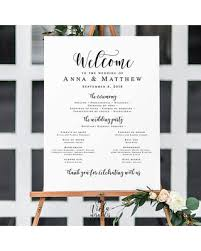wedding program board new savings on large wedding program sign wedding templates
