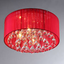 Shaded Crystal Chandelier Bright Red Chandelier Editonline Us