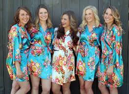 bridesmaid satin robes floral satin robe many colors getting ready wedding
