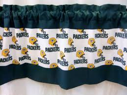 Green Bay Packers Window Curtains Green Bay Packers Nfl Football White Custom Valance Curtain