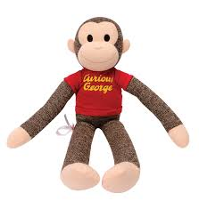 curious george sock monkey schylling