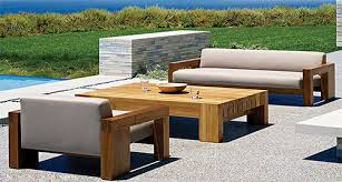 solid teak wood outdoor furniture by marmol radziner for danao outdoor