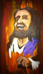 commission laughing jesus by michaelelliottfurr on deviantart