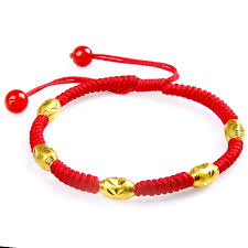 knot rope bracelet images Acacia knot gold bracelet gold transfer beads red rope bracelet jpg