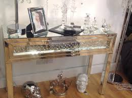 Mirrored Console Table Furniture Florence Mirrored Console Table With Drawers For