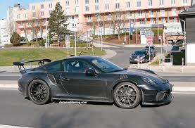 Porsche Gt3 Rs Msrp 2018 Porsche Gt3 Rs And Gt2 Rs Spied Automobile Magazine